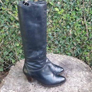 Vintage Knee High Genuine Leather Zipper Boots